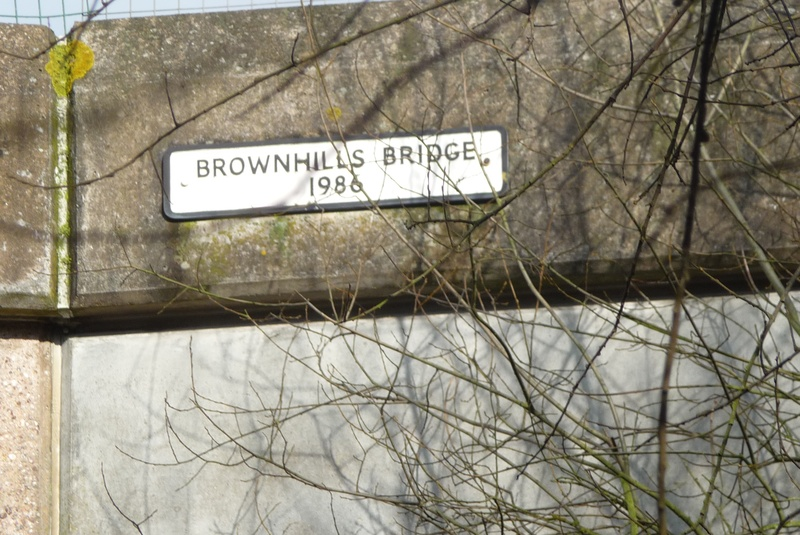Brownhills Bridge sign