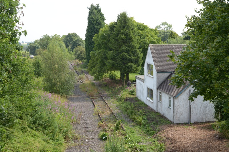 Looking down the line towards Lichfield