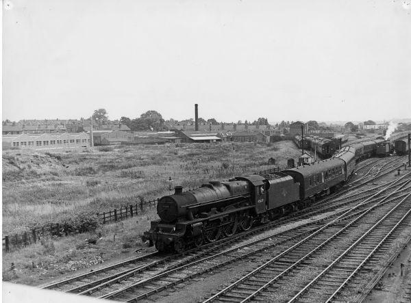 45659 on GLS  at NewMills CS. 1959