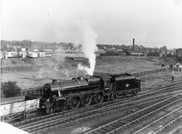 45349 shunts at NewMills. 1960