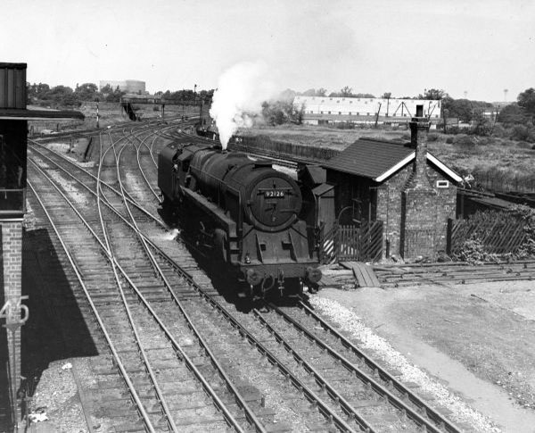 92126 arrives at Bescot Station from Walsall direction 1957