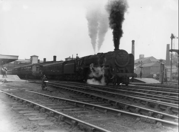70032 on Pines Express at Walsall 1959