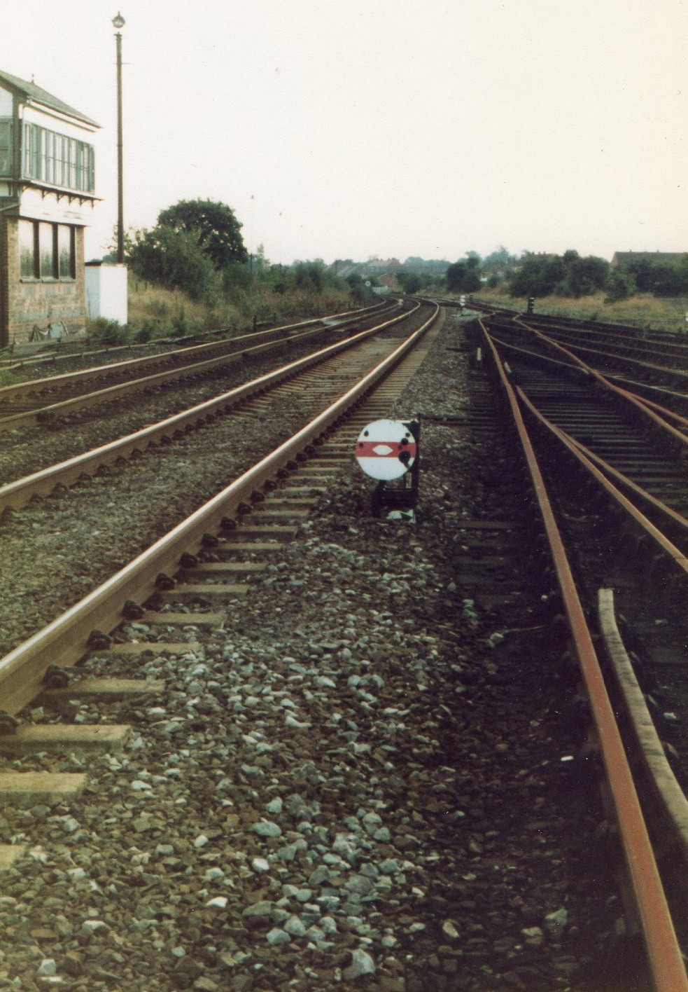 View looking south with No1 Signal Box on the left.