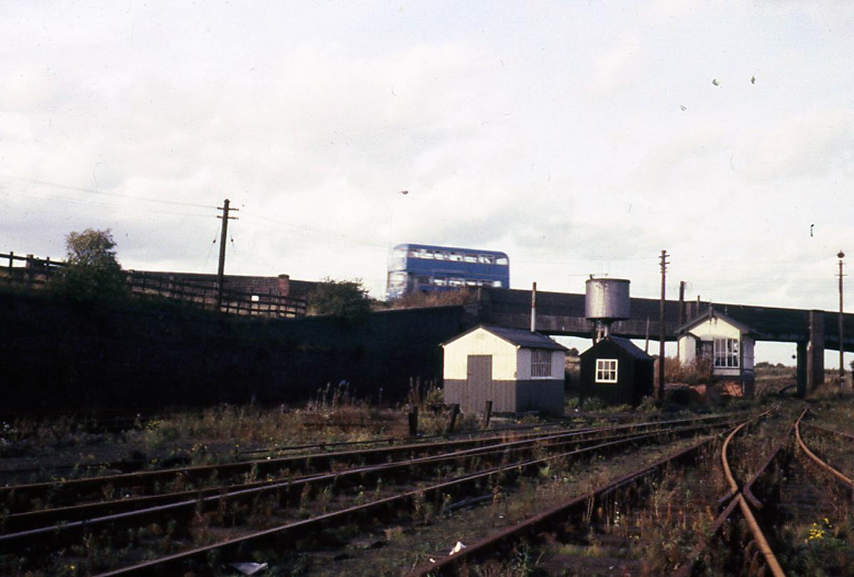 No3 Signal Box with Highbridge behind,