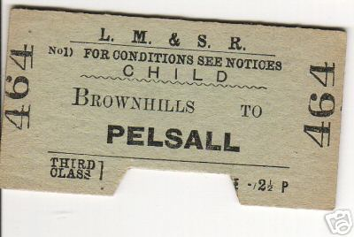 Brownhills to Pelsall