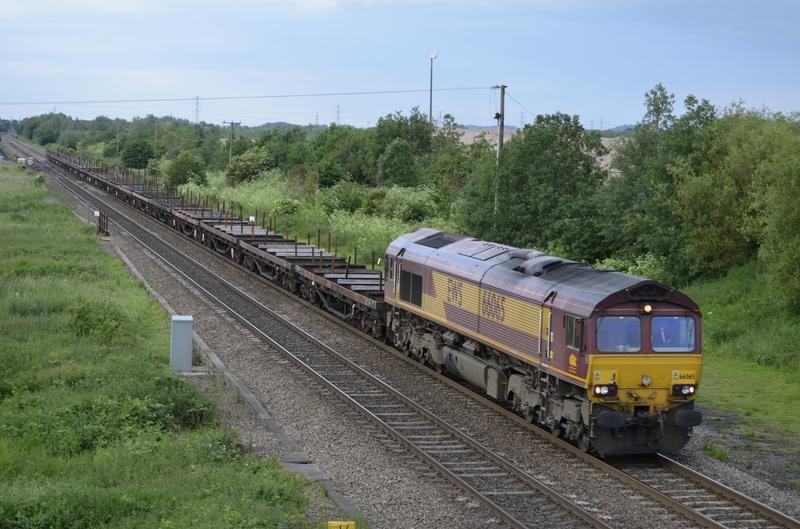 Class 66 heading towards Wichnor Jct on the Derby to Birmingham Line